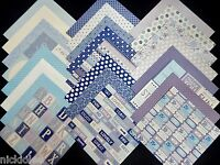12x12 Scrapbook Paper Cardstock Dcwv Marquee Stack Party Blue Purple Sign 24 Lot