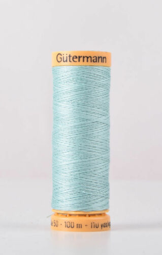 7827-100m Gutermann 100/% Algodón Natural Hilo de Coser Col