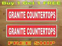 White On Red Granite Countertops 6x24 Real Estate Rider Signs Buy 1 Get 1 Free