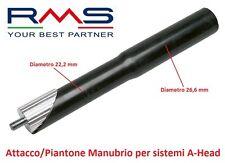 0101 Attacco/Piantone Manubrio RMS Alluminio Nero x Bici 20-24-26 MTB Mountain B
