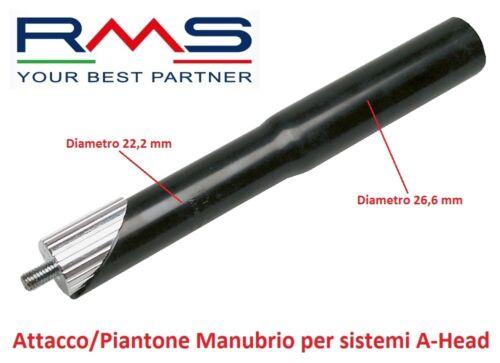 0101 Attacco//Piantone Manubrio RMS Alluminio Nero x Bici 26-28 Fixed Scatto Fiss