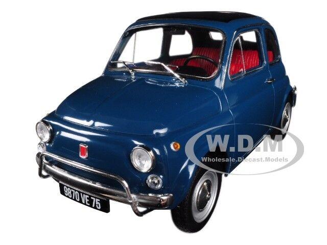 1968 Fiat 500 L Blue 1 18 Diecast Model Car By Norev 187770 Ebay