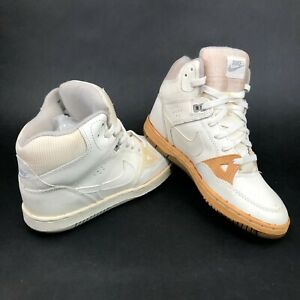 a8f7213020d1 Details about Vintage 80s Nike Mens 5 High Tops White Basketball Shoes  Sneakers Rare Deadstock
