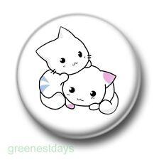 Cute Cartoon Kittens 1 Inch / 25mm Pin Button Badge Cats Felines Kitty Miaow Fun