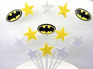 Image Is Loading Batman Superhero Birthday Cake Topper Kid 039 S