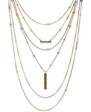 Lucky Brand Jewelry 4-in-1 Gold-tone Major Lucky Layer Turquoise Necklace $69