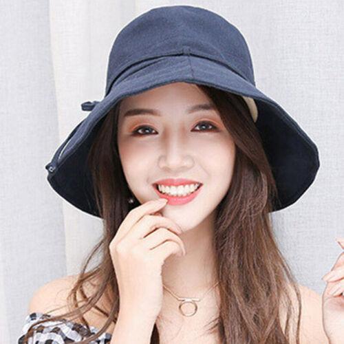 Tropenhut Kappe Mütze Damen Fischermütze Sonnenschutz verstellbar Bucket Cap Hut