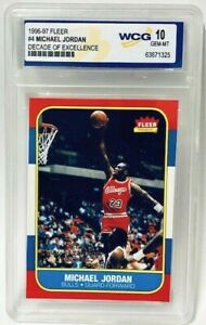 1996-97-Fleer-Michael-Jordan-Decade-Of-Excellence-4-Rookie-Card-Graded-Gem-Mint