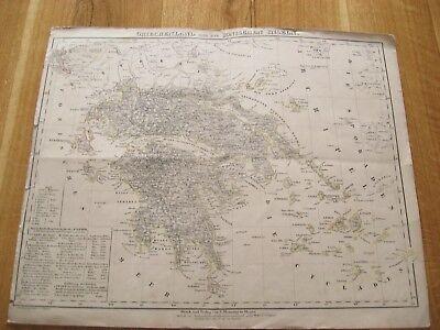 Alte Landkarte Griechenland Und Die Ionischen Inseln Von C.flemming Um 1850 In Verschiedenen AusfüHrungen Und Spezifikationen FüR Ihre Auswahl ErhäLtlich