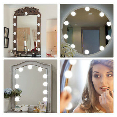 smart touch 10LED Dimmable Vanity Mirror Lights Kit Bulbs