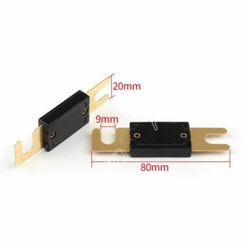 8Pcs Fuse 500A AMP ANL Type Gold Plated Blade Fuses For Auto Car Stereo Audio UK