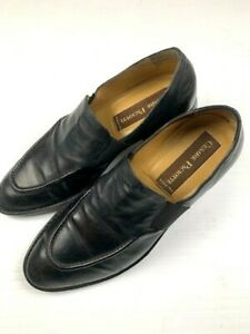CESARE-PACIOTTI-Mens-Leather-Shoes-Made-In-Italy-Slip-On-Size-7-5-US-Black