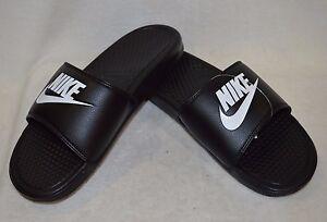 sports shoes 5f061 3ad54 Image is loading Nike-Benassi-JDI-Black-White-Men-039-s-