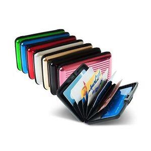 Porta Carte Di Credito Rigido Alluminio Portafogli Moda