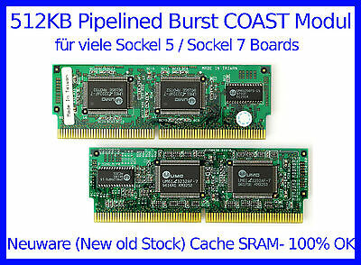 512KB Cache SRAM Pipelined Burst COAST-Modul (NEW OLD STOCK!) 100% OK
