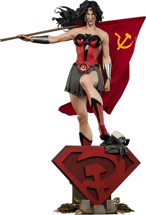 Wonder Wonder Wonder Woman Red Son Premium Format Figure Statue Sideshow Collectibles DC Comic 951e1c