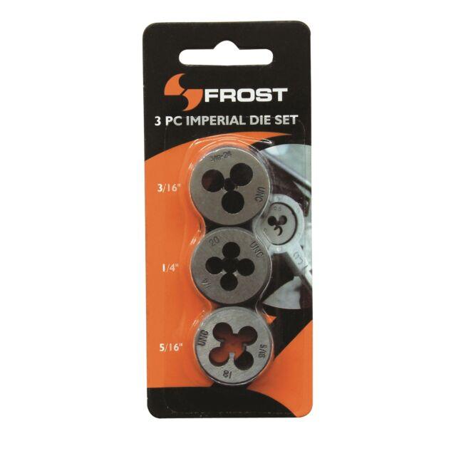 Frost IMPERIAL DIE SET 3Pcs,3/16,1/4 & 5/16 Inch,Creates Screw Threads*AUS Brand
