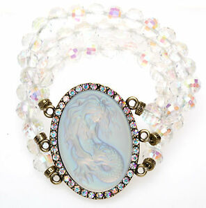 KIRKS-FOLLY-LORELEI-DIVA-MERMAID-STRETCH-BRACELET-BT-CRYSTAL-AB