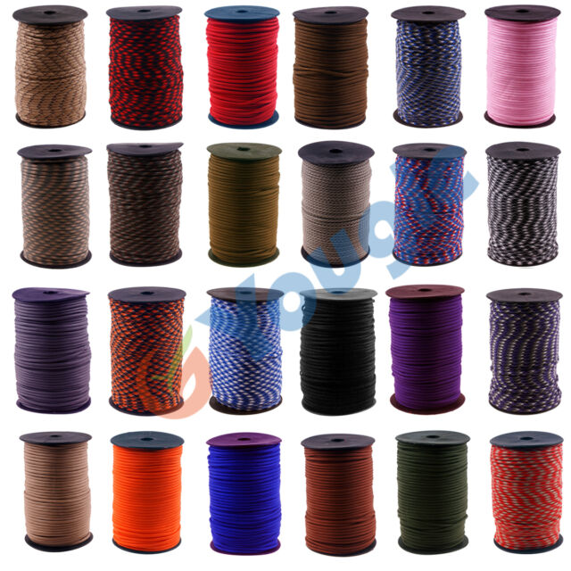 550 Paracord Parachute Cord Mil Spec Type III 7 Strand Core 100 meters w/ Spool