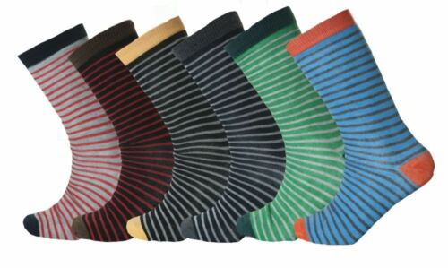 Mens Mutli Stripe BB socks coloured Cotton Rich Poly Cotton Designer Adults Lot