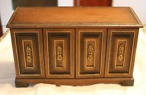 Image Is Loading Large Vintage Wood Jewelry Box Chest 6 Drawers