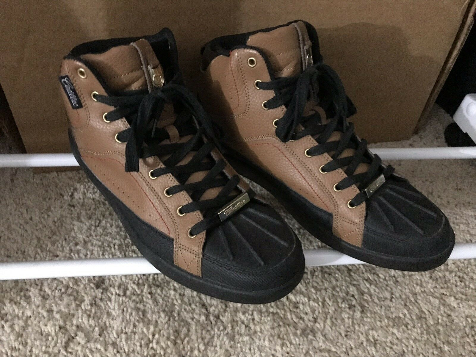 Cadillac hi-top driving shoes, used 2 Or 3 Times Size 13. Unique shoes