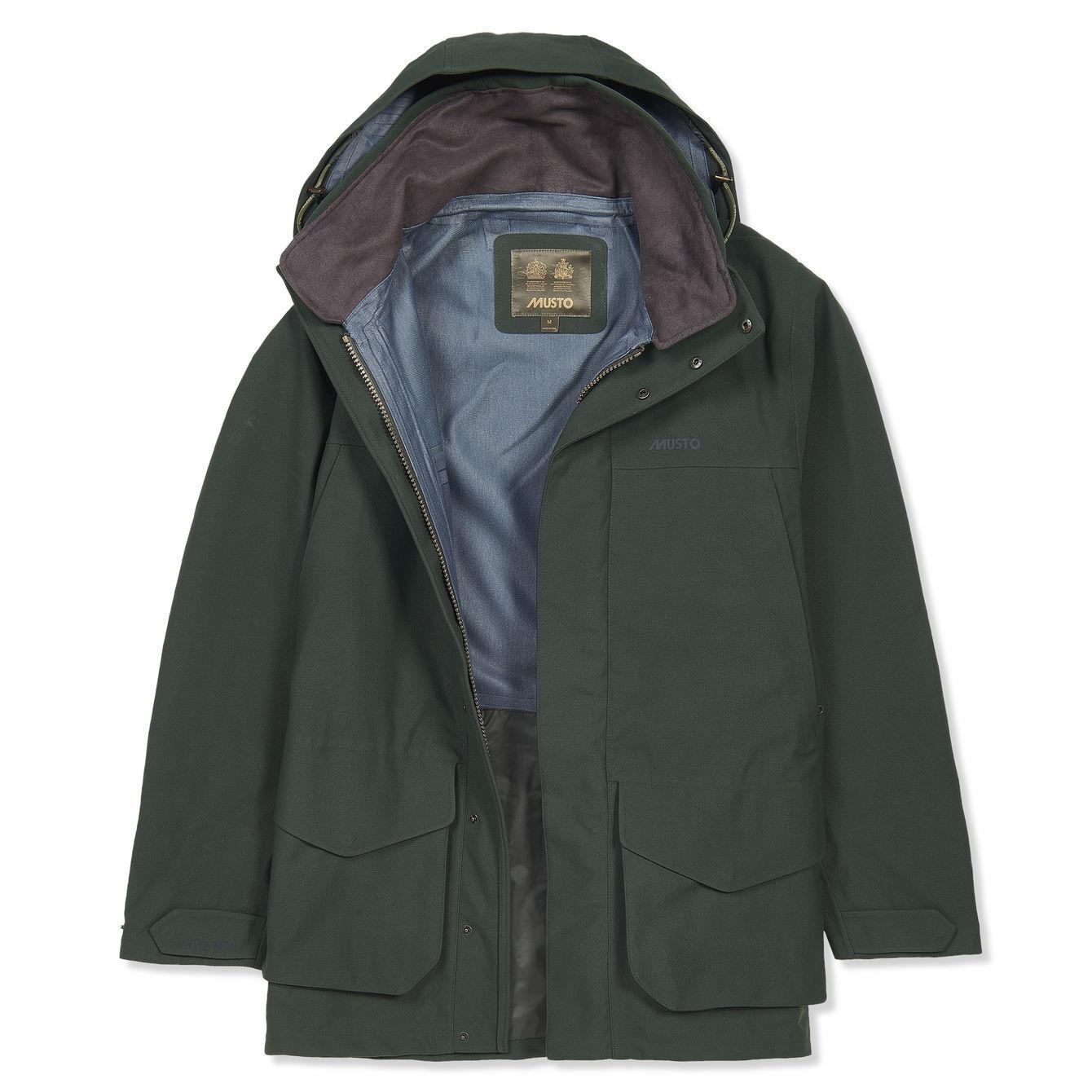 Musto para hombre Highland Gore-Tex chaqueta en verde oscuro-Tamaños L, XL y XXL