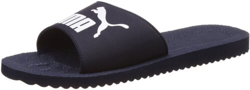 Puma PureCat Sliders Navy EVA Cushioning Soft Strap Beach Gym Sports Style Slide