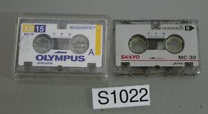 Treu Sanyo Mc30 s1022-r49 Olympus Mc15 Audio Cassette Tape Voice Recorder