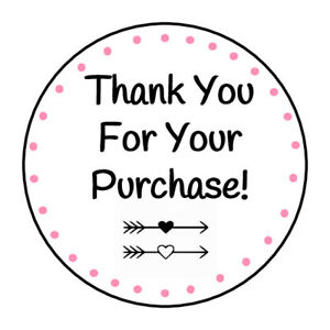 30 THANK YOU PACKAGE DELIVERY 1.5 INCH LABELS ROUND STICKERS