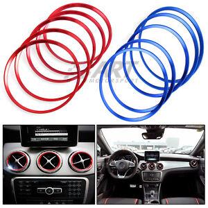 Aros-de-aluminio-para-aireadores-de-Mercedes-Clase-A-Clase-B-CLA-GLA-rojo-o-azul