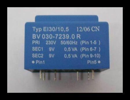 Print transformador 230v 50//60hz 2 x 9v 0,5 va 1 unid.