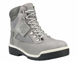 2644c612ff0bd Timberland 6-Inch Waterproof Field Boot Cement Grey Nubuck Mens Size ...