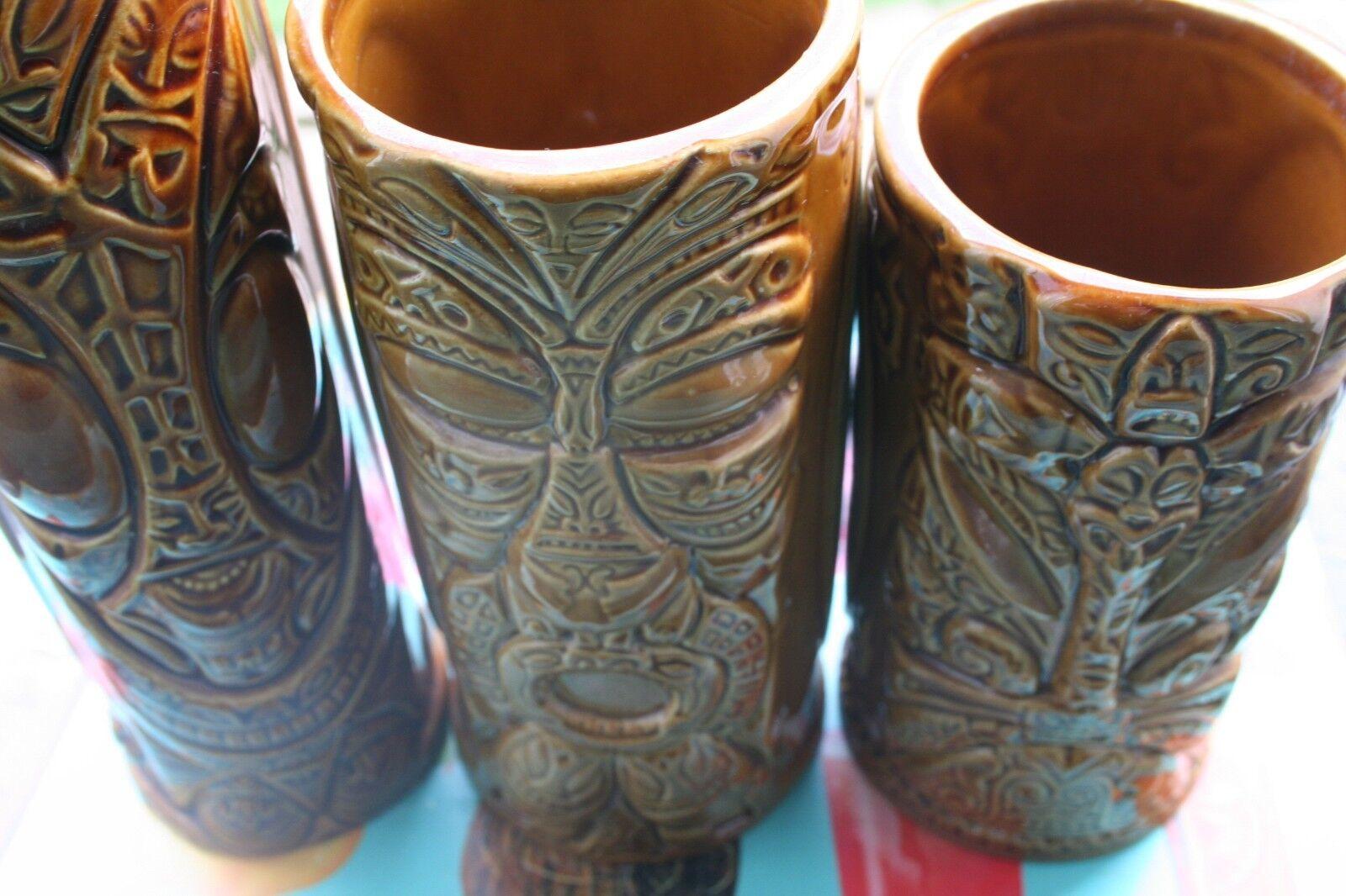 3 Tiki 's   mug en céramique   cocktail Tikifarm Californie    2007 USA