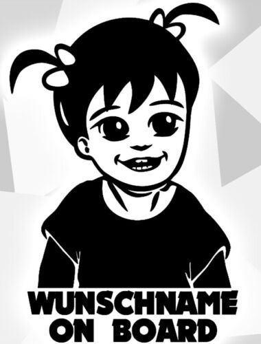 1x Aufkleber WUNSCHNAME ON BOARD Sticker Hangover Baby Auto Kind fährt mit FUNcx