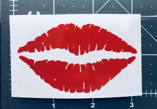 Lips red Sticker 3/'/' x 2/'/'
