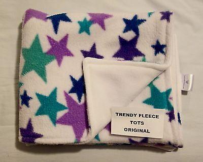 Blankets & Throws Baby 2019 Fashion Baby Blanket Car Crib Moses Purple Green Stars & White Fleece Reversible