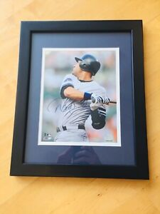 Derek Jeter 8x10 Signed Autograph, Custom Framed, 2500th Hit, Steiner COA