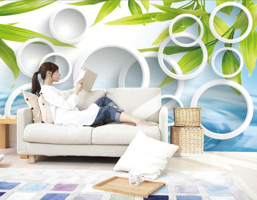 3D 3D 3D Die Blätter grün - Weizen  Fototapeten Wandbild Fototapete BildTapete Familie b0233a