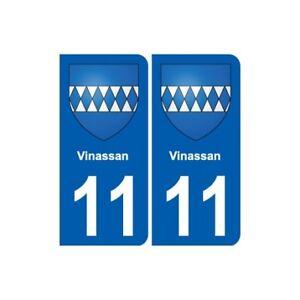 11 Vinassan Blason Ville Autocollant Plaque Stickers