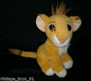 VINTAGE 1993 MATTEL DISNEY LION KING BABY SIMBA PURRS STUFFED ANIMAL PLUSH TOY