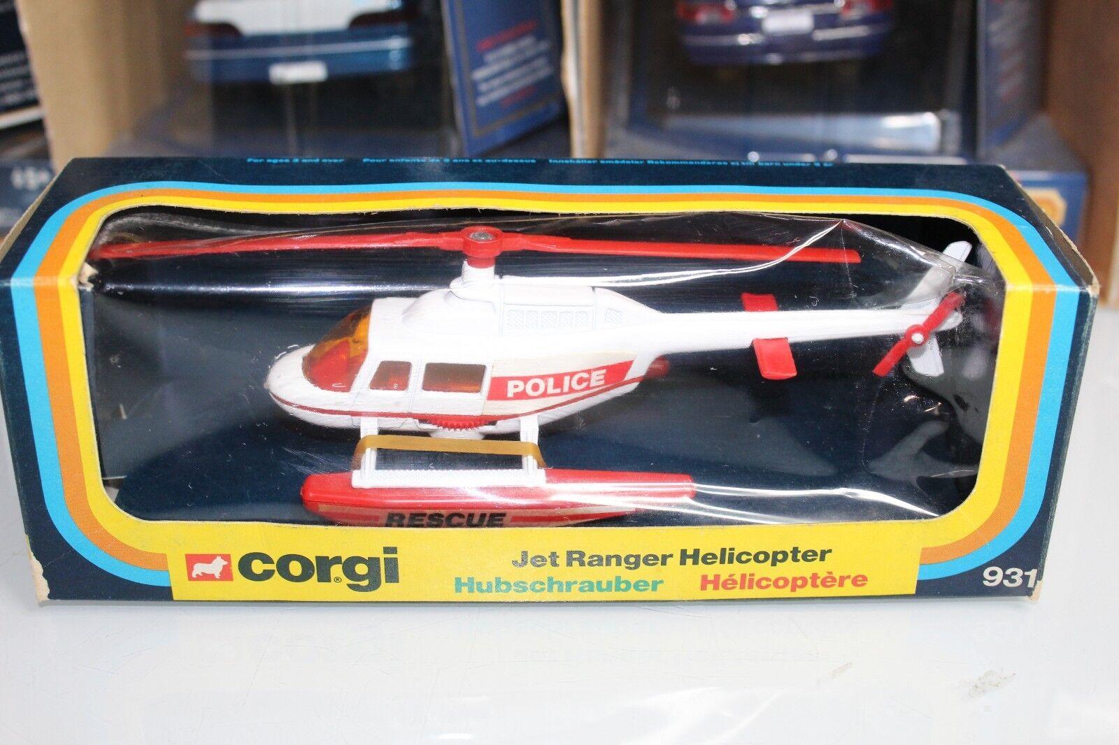 Corgi 1980 Series JET RANGER HELICOPTER POLICE RESCUE