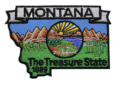 MT Travel Souvenir 222-R State Of Montana Flag Embroidered Iron On Patch
