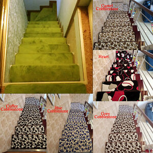 Image Is Loading 13pcs Stair Treads Rectangle Non Slip Carpet Stair