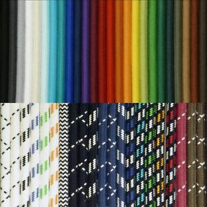 Premium-Textilkabel-100-Baumwolle-2-3-4-adrig-Lampenkabel-Stoffkabel