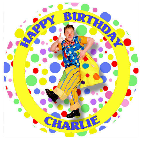 Anniversaire Tous Âges Edible Icing//plaquette Personalised Cake Topper Mr Tumble