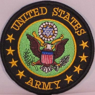 BUY 1 GET 1 FREE US MILITARY VETERAN ARMY SEW//IRON ON PATCH EMBROIDERED BIKER