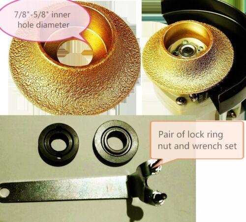 "1//2/"" 3//16/"" Demi-bullnose//Roundover Diamond Profiler Router Granite Marble Glass"