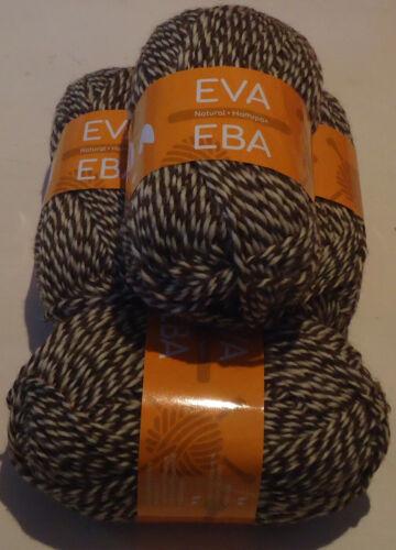 400g EVA 100/% KNITTING WOOL in COFFEE /& CREAM FLECK,SUPER VALUE!!