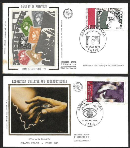 100% Vrai 2 Fdc - Enveloppe Premier Jour - Arphila De Paris 1975 Calcul Minutieux Et BudgéTisation Stricte
